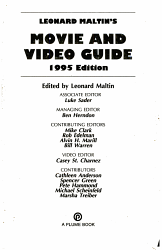 Leonard Maltin S Movie And Video Guide 1995 Book PDF
