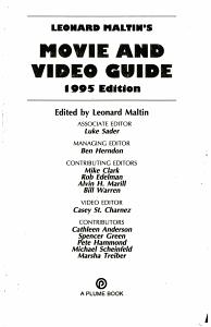 Leonard Maltin s Movie and Video Guide 1995 PDF