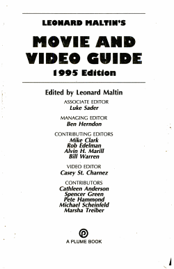 Leonard Maltin s Movie and Video Guide 1995 PDF