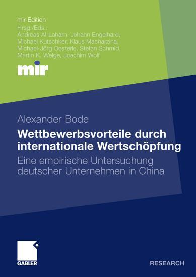 Wettbewerbsvorteile durch internationale Wertsch  pfung PDF
