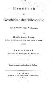 Handbuch der Geschichte der Philosophie: zum Gebrauche seiner Vorlesungen, Band 2