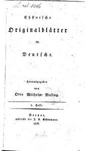 Ehstnische Originalblätter für Deutsche: Band 1