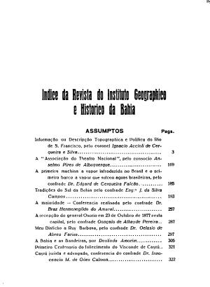Revista do Instituto Geogr  phico e Hist  rico da Bahia PDF