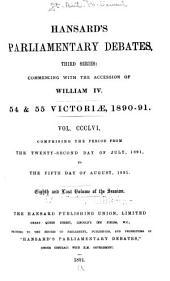 The Parliamentary Debates (Authorized Edition): Volume 356