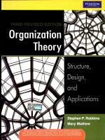 Organization Theory  Structure  Design  And Applications  3 E PDF