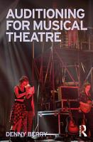 Auditioning for Musical Theatre PDF