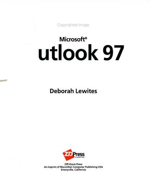 How to Use Microsoft Outlook 97 PDF