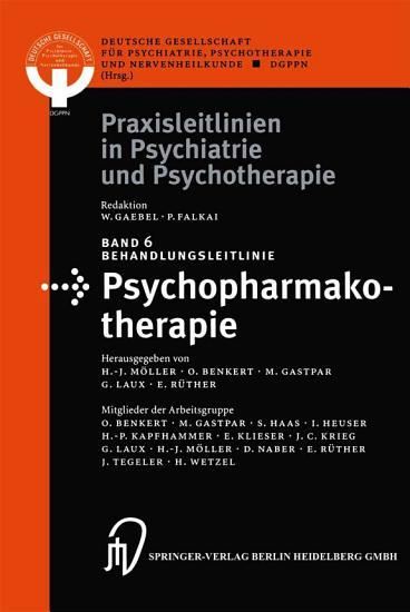 Behandlungsleitlinie Psychopharmakotherapie PDF