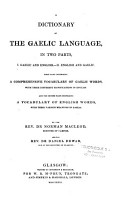 A Dictionary of the Gaelic Language PDF