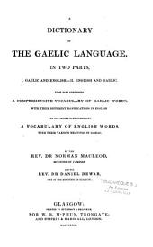 A Dictionary of the Gaelic Language: In Two Parts
