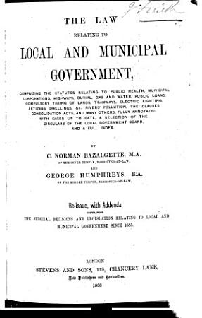 The Law Relating to Local and Municipal Government PDF