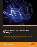 Learning Website Development with Django PDF