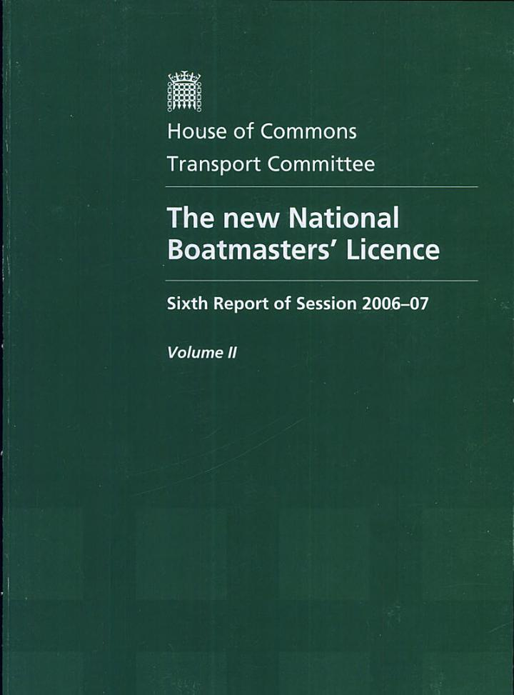 The new National Boatmasters' Licence