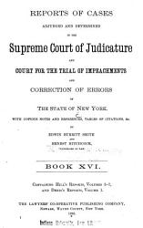 Reports of Cases Adjudged and Determined in the Supreme Court of Judicature and Court for the Trial of Impeachments and Correction of Errors of the State of New York PDF