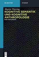 Kognitive Semantik und Kognitive Anthropologie PDF