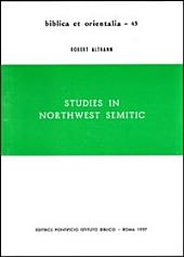 Studies in Northwest Semitic