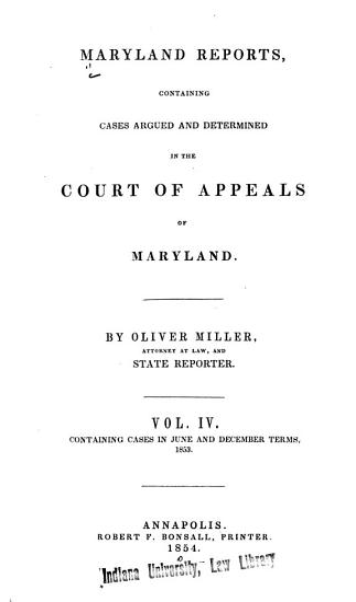 Maryland Reports PDF