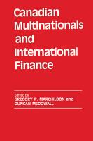 Canadian Multinationals and International Finance PDF