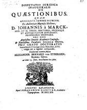 Disputatio ... de quaestionibus