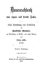 Doaraschleah von oigene und frende Hecka0: eine Sammlung von Gedichten in schwäbischer Mundart zur Unterhaltung in Gesellen- und andern Vereinen