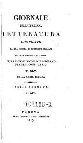 Giornale dell'Italiana letteratura: Volume 45
