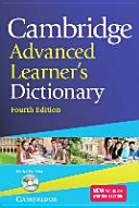 Cambridge Advanced Learner s Dictionary Fourth Edition  Book with CD ROM
