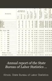 Annual Report of the State Bureau of Labor Statistics Concerning Coal in Illinois