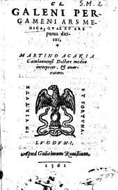 Ars medica, quae et ars parua dicitur