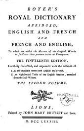 Dictionnaire Royal François-Anglois et Anglois-François, en abrégé