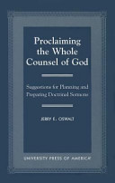 Proclaiming the Whole Counsel of God