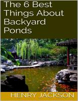 The 6 Best Things About Backyard Ponds PDF