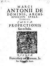 Causae profectionis suae ex Italia