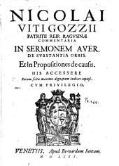 Commentaria in sermonem aver. de substantia orbis et in propositiones de causis