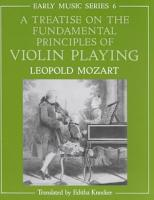 A Treatise on the Fundamental Principles of Violin Playing PDF