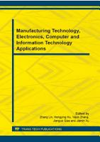 Manufacturing Technology  Electronics  Computer and Information Technology Applications PDF