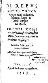 De rebus gestis Ludovici et ... Caroli 8. Commentarii