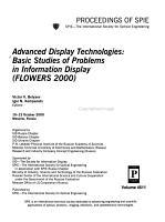 Advanced Display Technologies PDF