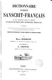 Dictionnaire classique Sanscrit-Français où sont ordonnés...les travaux de Wilson Bopp,Westergaard...Colaborateur L·Lenpol