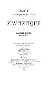 Traité théorique et pratique de statistique: Volume25