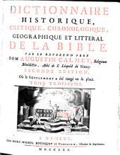 Dictionnaire Historique, Critique, Chronologique, Geographique Et Litteral De La Bible: K - R, Volume3