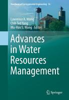 Advances in Water Resources Management PDF