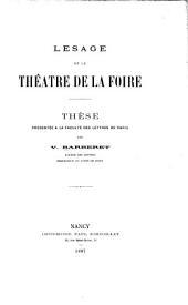 Lesage et le théâtre de la foire ...