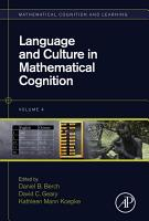 Language and Culture in Mathematical Cognition PDF
