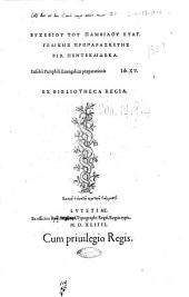 Eusebii Pamphili Euangelicae praeparationis lib. 15