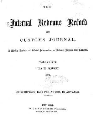 The Internal Revenue Record and Customs Journal PDF