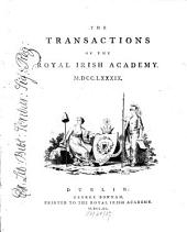 The Transactions of the Royal Irish Academy: Volume 3