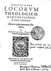 TERTIA PARS LOCORUM THEOLOGICORUM