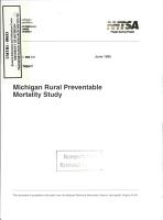 Michigan Rural Preventable Mortality Study  Final Report PDF