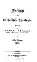 Zeitschrift f  r katholische Theologie PDF