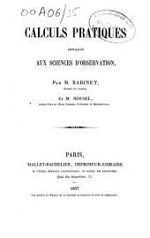 Calculs pratiques appliqués aux sciences d'observation